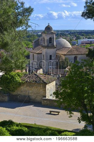 The Collegiate Church of Notre-Dame-des-Pommiers Beaucaire Occitanie France