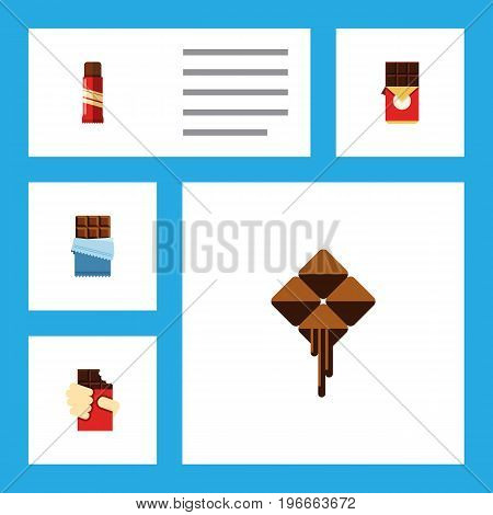Flat Icon Sweet Set Of Sweet, Delicious, Bitter And Other Vector Objects