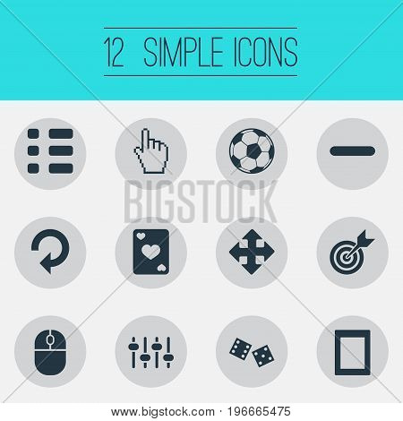 Elements Touch Screen, Tasks, Device And Other Synonyms Arrow, Pointer And Reload.  Vector Illustration Set Of Simple Leisure Icons.