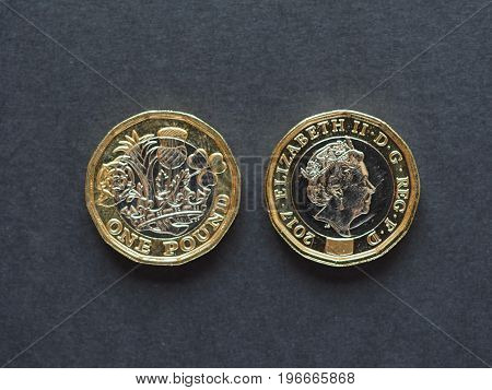 1 Pound Coin, United Kingdom In London