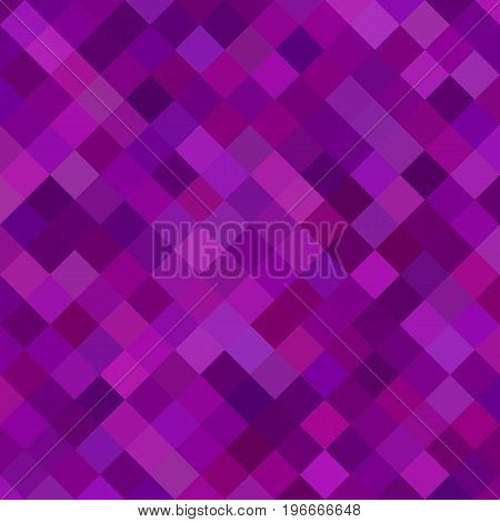 Colored square pattern background - geometrical vector illustration from diagonal squares in purple tones