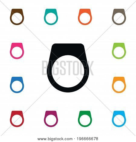 Gemstone Vector Element Can Be Used For Gemstone, Ring, Jewel Design Concept.  Isolated Circle Icon.