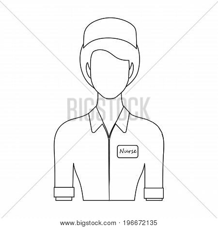 Medical staff in the hospital. Medicine single icon in outline style vector symbol stock illustration .