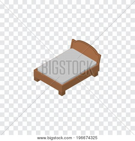 Bedstead Vector Element Can Be Used For Bedstead, Bed, Furniture Design Concept.  Isolated Bed Isometric.
