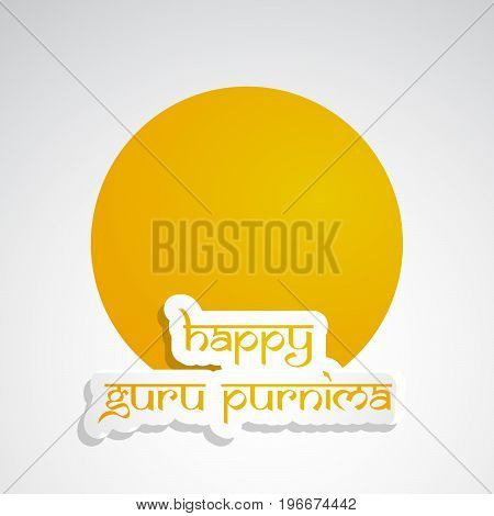 illustration of happy Guru Purnima text on the occasion of Guru Purnima festival in India