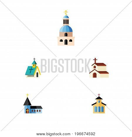 Flat Icon Christian Set Of Catholic, Religion, Christian And Other Vector Objects