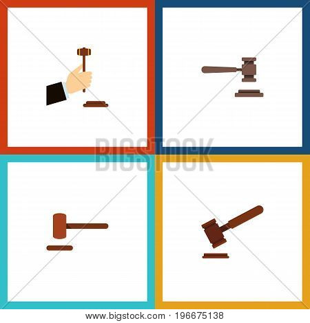 Flat Icon Lawyer Set Of Defense, Justice, Legal And Other Vector Objects