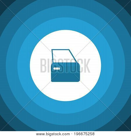 Automobile Part Vector Element Can Be Used For Automobile, Part, Door Design Concept.  Isolated Door Flat Icon.
