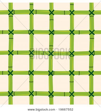 A seamless pattern of bamboo tied together creating perfect square. poster