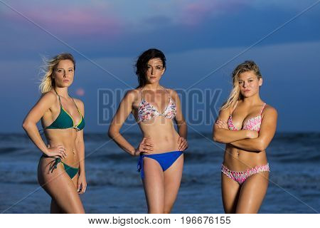 Friends enjoying a day at the beach