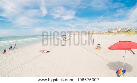 Myrtle Beach South Carolina USA-July 11 2017. POV point of view - Summer vacation on the beach.