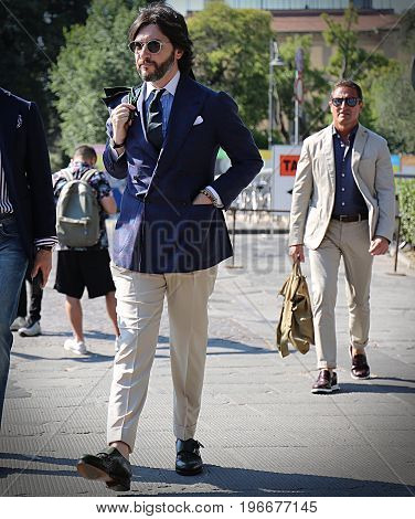 FLORENCE- 13 JUNE 2017 Nicola Ricci on the street during the Pitti