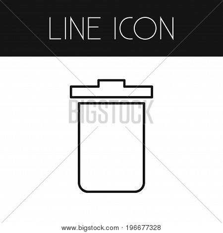 Garbage Container Vector Element Can Be Used For Trash, Bin, Container Design Concept.  Isolated Trash Bin Outline.