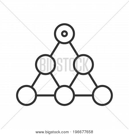Hierarchy linear icon. Thin line illustration. Team building and structure concept contour symbol. Vector isolated outline drawing