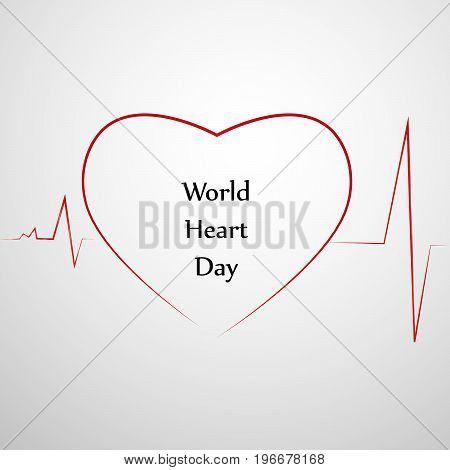 illustration of heart design with World Heart Day text 29th September text on the occasion of World Heart Day