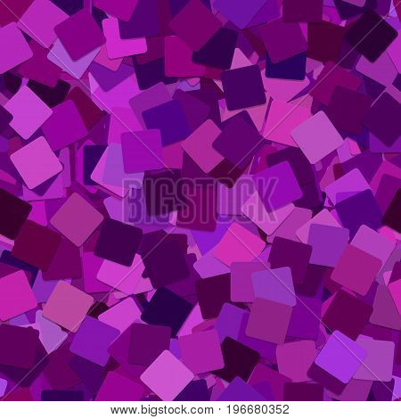 Abstract seamless geometric square background pattern - vector graphic from rotated dark purple squares with shadow effect