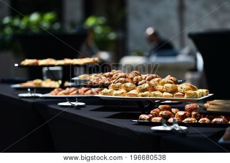 Table Full With Fresh Pastry Products