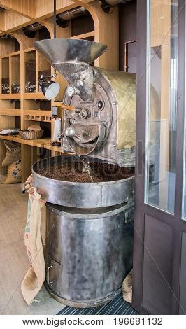 Coffee Roaster Machine In An Coffee Store