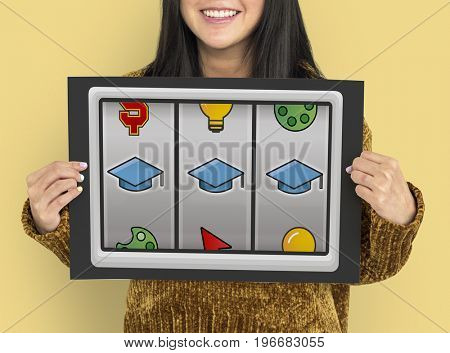 Slot Machine Mortar Board Graduation Education