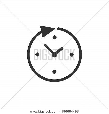 Clock time vector icon isolated on white background
