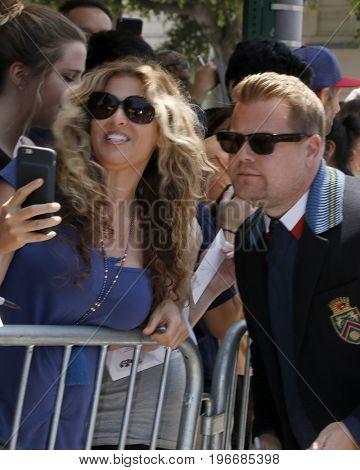 LOS ANGELES - JUL 23:  James Corden, fans at