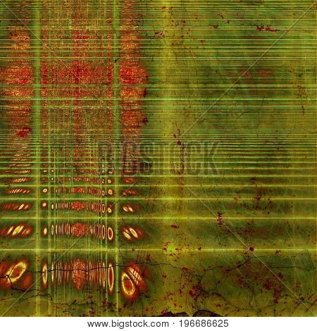 Abstract retro background or old-fashioned texture. With different color patterns: yellow (beige); brown; gray; green; red (orange)