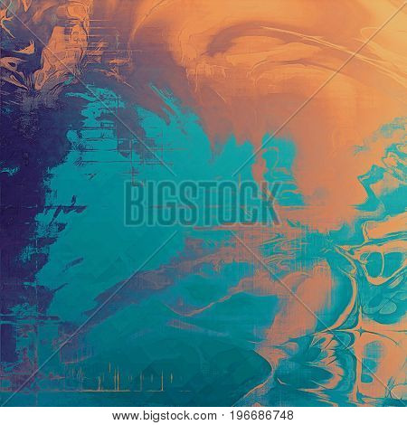 Cute colorful grunge texture or tinted vintage background with different color patterns: yellow (beige); brown; blue; red (orange); cyan