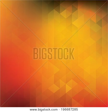 Shades of yellow and orange abstract background - Illustration