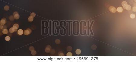 Festive background with tender golden bokeh for a celebration