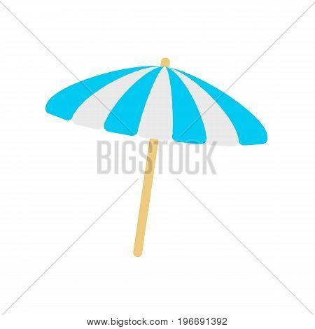 Sun umbrella icon. Beach umbrella illustration.  Vector stock.