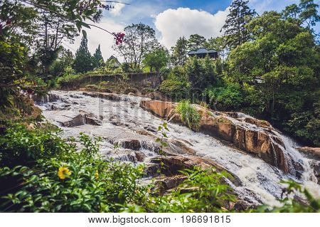 Beautiful Camly Waterfall In Da Lat City