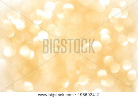 Gold Bokeh Background. The background with boke. Abstract texture. Color circles.