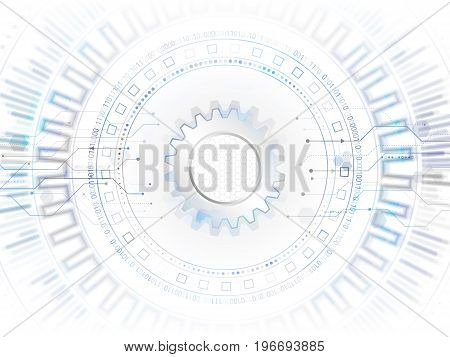 Abstract global technology concept. Digital internet communication. Connection structure. Hi-tech vector illustration eps 10.