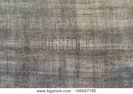 Texture of an dark linen cloth background