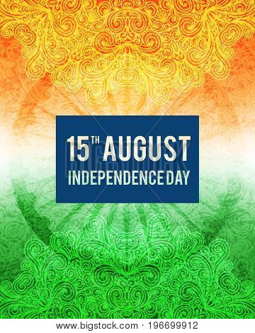 Background for Indian Republic day and Independence day. Vector illustration of Indian flag theme.