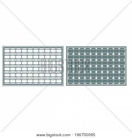 Solar Panel Grey Color Set Icon .