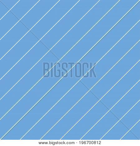 Striped seamless pattern - diagonal lines. Blue endless background.