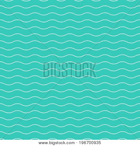 Wavy seamless striped pattern. Simple endless background.