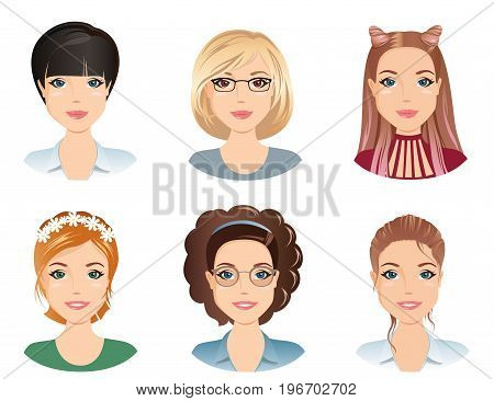 Different hairstyles, female, for the girl, young adult, woman