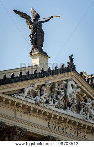 Photo of state opera in czech city Prague