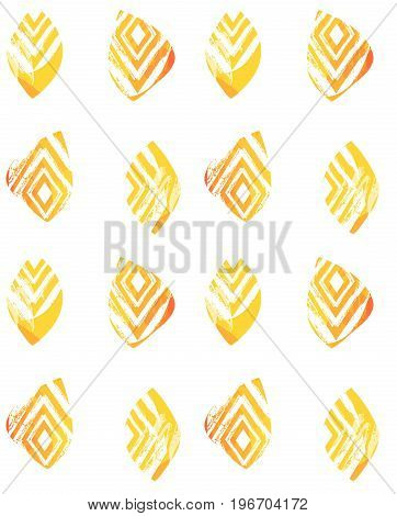 Hand drawn vector abstract freehand textured seamless minimalism pattern collage with zebra motif, organic textures, triangles isolated on white background.