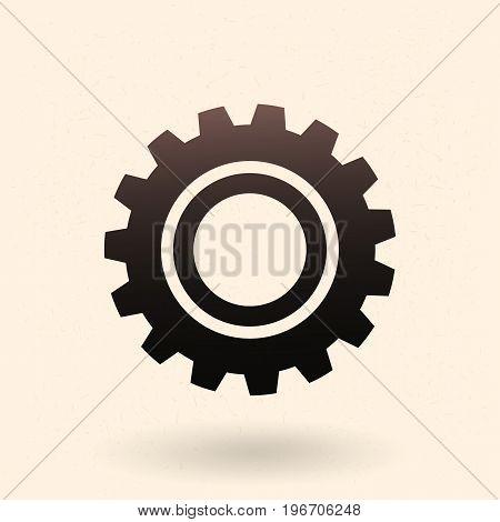 Vector Single Icon - Mechanical Gear.