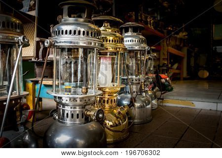 Close up Old lamp Hurricane lamp/storm lantern for sales