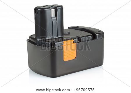 battery for power tools on a white background