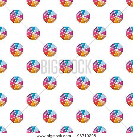 Colorful circle chart divided into eight parts pattern seamless repeat in cartoon style vector illustration
