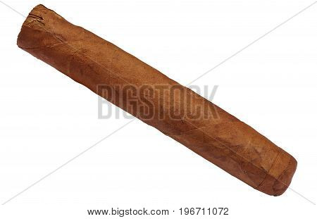 Cuban Brown Cigar Isolated On White