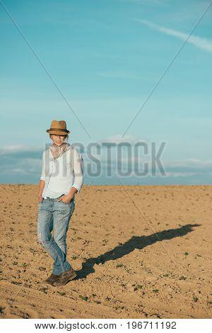 Traveler woman outdoors. Young explorer woman
