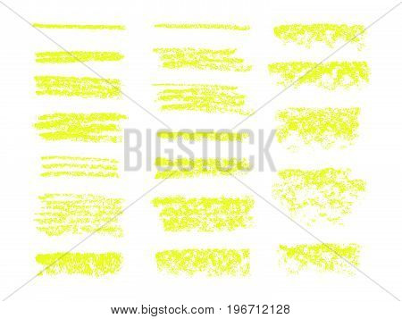 Vector Highlighter Brush Lines. Hand Drawing.