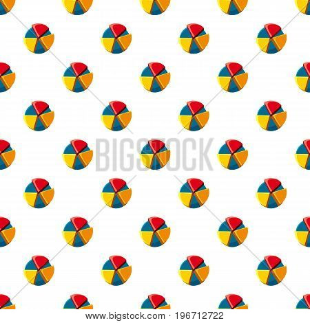 Colorful pie chart pattern seamless repeat in cartoon style vector illustration
