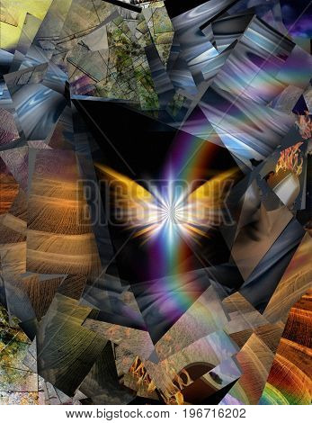 Spiritual Abstract  3D rendering  Some elements provided courtesy of NASA